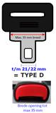 Mini Type:D Auto gordel verlenger, vervaardigd uit E4 onderdelen_
